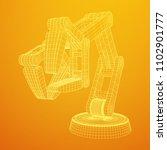 robotic arm manufacture... | Shutterstock .eps vector #1102901777