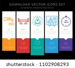 5 vector icons such as... | Shutterstock .eps vector #1102908293