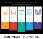 5 vector icons such as... | Shutterstock .eps vector #1102908437