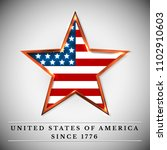 usa star  independence day.... | Shutterstock .eps vector #1102910603