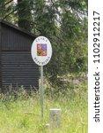 czech border road sign  czech... | Shutterstock . vector #1102912217