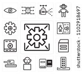 set of 13 icons such as data ...