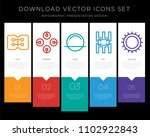 5 vector icons such as... | Shutterstock .eps vector #1102922843