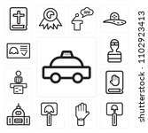 set of 13 icons such as car ...