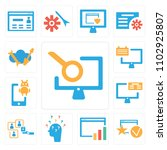 set of 13 icons such as laptop  ...