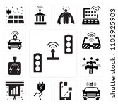set of 13 icons such as traffic ...