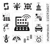 set of 13 icons such as smart...
