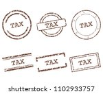 tax stamps on white | Shutterstock .eps vector #1102933757