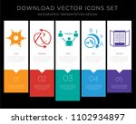 5 vector icons such as... | Shutterstock .eps vector #1102934897