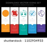 5 vector icons such as spoiler... | Shutterstock .eps vector #1102934933