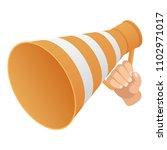 road cone speaker icon.... | Shutterstock .eps vector #1102971017