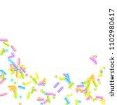 sprinkles grainy. sweet... | Shutterstock .eps vector #1102980617