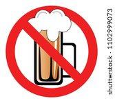 set no sign  no alcohol... | Shutterstock .eps vector #1102999073