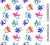 seamless floral background.... | Shutterstock . vector #1103068253