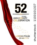 52 anniversary design with big... | Shutterstock .eps vector #1103101337