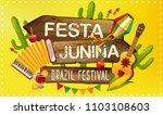 festa junina illustration...   Shutterstock . vector #1103108603