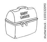 lunch bag. easy lunch... | Shutterstock .eps vector #1103132093