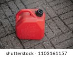 gas can red plastic gallon fuel ... | Shutterstock . vector #1103161157