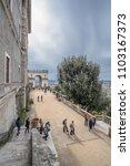 villa d'este  tivoli  lazio... | Shutterstock . vector #1103167373