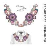 design for collar shirts ... | Shutterstock . vector #1103189783