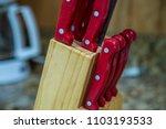 knife block knives cutting... | Shutterstock . vector #1103193533