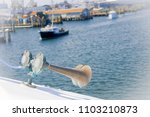 passenger ferry equipped with a ... | Shutterstock . vector #1103210873