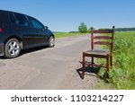 golden mahogany chair on the...   Shutterstock . vector #1103214227