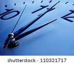 clock face in blue tone. time... | Shutterstock . vector #110321717
