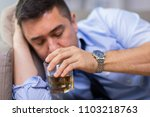 alcoholism  alcohol addiction... | Shutterstock . vector #1103218763