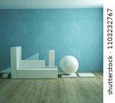 modern ceramic sculpture 3d... | Shutterstock . vector #1103232767