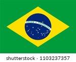 vector flag of brazil.... | Shutterstock .eps vector #1103237357