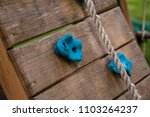 playground rock climbing wall... | Shutterstock . vector #1103264237