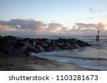 sunrise on southwold beach ...