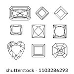 diamond. vector set of gems... | Shutterstock .eps vector #1103286293