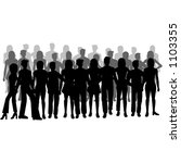 silhouettes of people | Shutterstock .eps vector #1103355