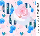 elegance floral pattern with... | Shutterstock .eps vector #1103419907