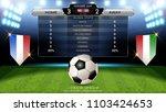 football scoreboard team a vs... | Shutterstock .eps vector #1103424653