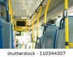 modern city bus interior   Shutterstock . vector #110344307
