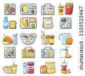 lunch break lunch food icons... | Shutterstock .eps vector #1103523467