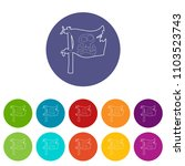 jolly roger icons color set...   Shutterstock .eps vector #1103523743