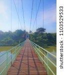 Small photo of Suspension bridge Wood bridge