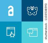 modern  simple vector icon set... | Shutterstock .eps vector #1103538593
