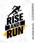 rise and run. marathon sport... | Shutterstock .eps vector #1103540993