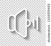 volume medium icon. white icon...