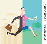 businessman retiring or on...   Shutterstock .eps vector #1103590853