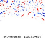 red blue confetti flying on... | Shutterstock .eps vector #1103669597