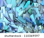3d abstract fragmented pattern... | Shutterstock . vector #110369597