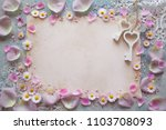 background with flowers of... | Shutterstock . vector #1103708093