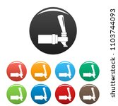 faucet icon. simple...   Shutterstock .eps vector #1103744093