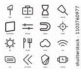 set of 16 icons such as waiting ...